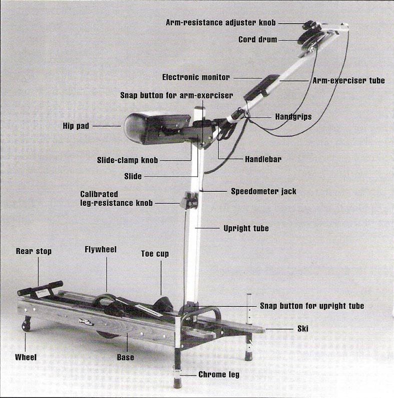 nordictrack pro ski machine parts